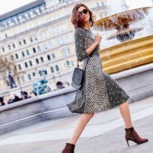 Boden | Anna Dress Floral Tie Waist Midi Size 6